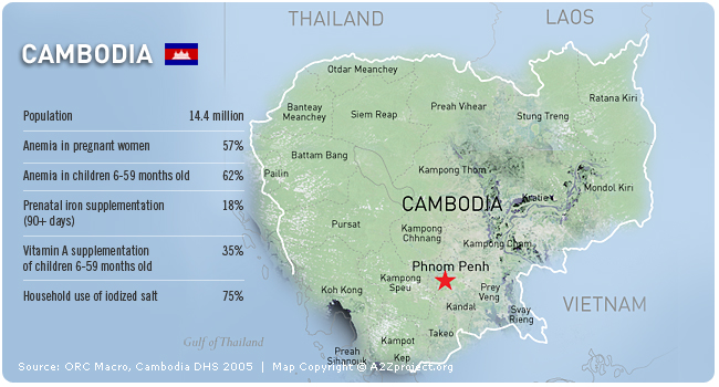 A2Z Cambodia Map and Statistics