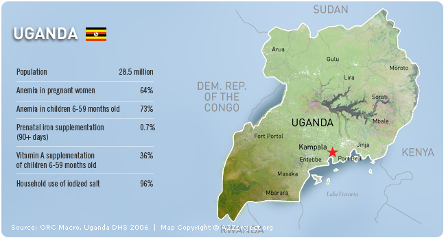 A2Z Uganda Map and Statistics