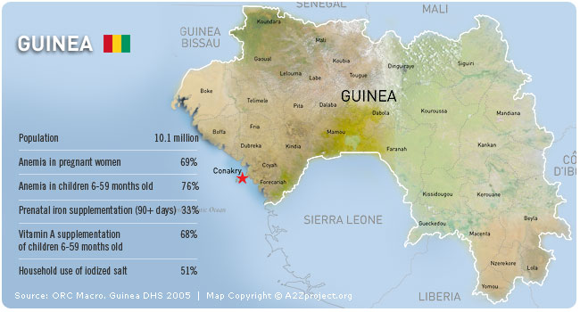 A2Z Guinea Map and Statistics