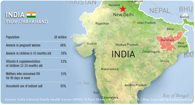 A2Z India: Jharkhand Map and Statistics
