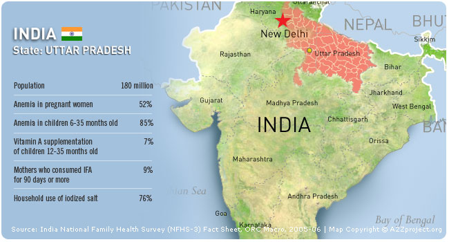 A2Z India: Uttar Pradesh Map and Statistics