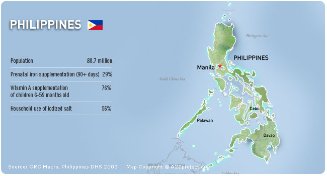 A2Z Philippines Map and Statistics
