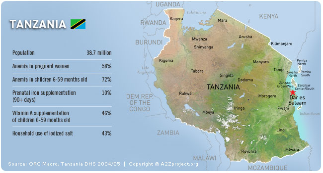 A2Z Tanzania Map and Statistics